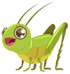 Locust grasshopper cartoon isolated vector