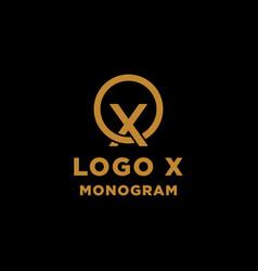 luxury initial x logo design icon element isolated vector image