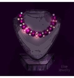 Mannequin For Jewelry Shop vector