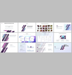 minimal presentations portfolio templates simple vector image