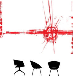 modern furniture background vector image