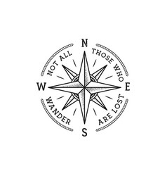 Nautical style vintage wanderlust print design vector