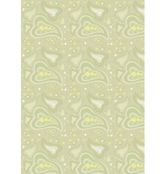 Paisley light green background vector image