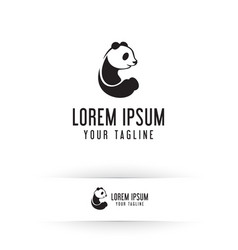 panda logo animals logo design concept template vector image