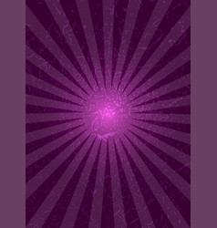 Purple background with center rays grunge texture vector