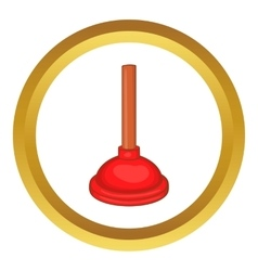 Red cup plunger icon vector