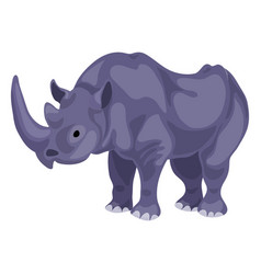 Rhino icon cartoon style vector