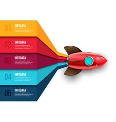 rocket infographic startup visualization vector image
