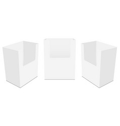 Set of countertop display boxes mockups vector