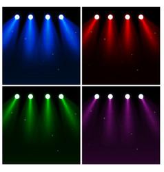 set of light effect spotlights vector image