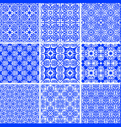 Set seamless ancient and modern greek patterns vector