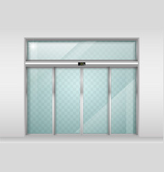 Sliding glass automatic doors vector
