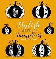 Stylish Halloween Pumpkins vector