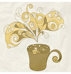 stylized cup of coffee vector image