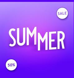 Summer sale creative isometric typography vector