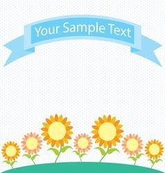 sunflower garden cartoon vector image
