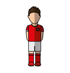 Switzerland team player soccer vector