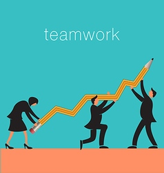 Teamwork Pencil vector image