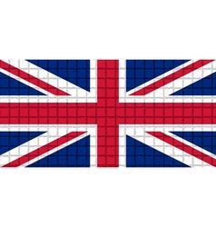 The mosaic flag of United Kingdom vector