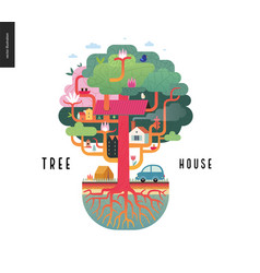 Tree house concept vector