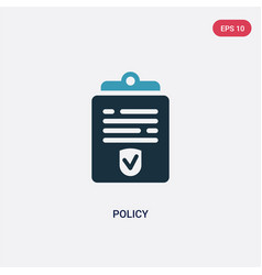 Two color policy icon from law and justice vector