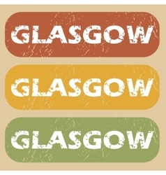 Vintage Glasgow stamp set vector