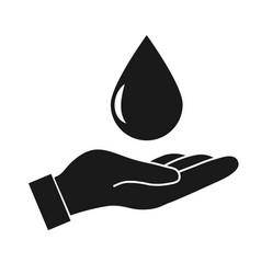 Water drop in hand vector