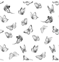 Watercolor butterfly pattern vector