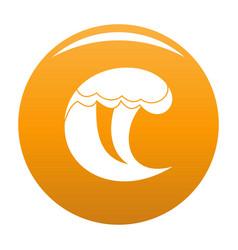 wave water scene icon orange vector image