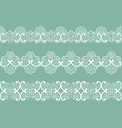 White lace borders vector