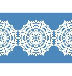 White snowflakes Christmas pattern Circular vector image