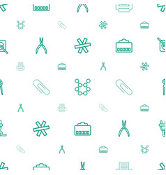 Wire icons pattern seamless white background vector
