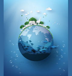 world wildlife day with animal vector image