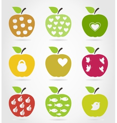 Apple icons3 vector image