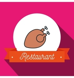 Chicken bird restaurant icon vector