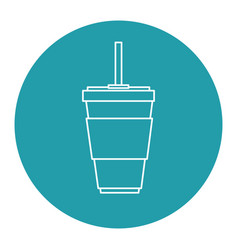 soda cup isolated icon vector image