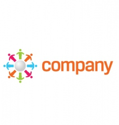 charity organization logo vector image vector image