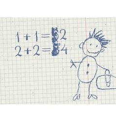 grade school background vector image
