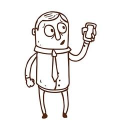 Hand Drawn Iphone Man vector image vector image