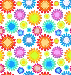 abstract colorful floral seamless pattern vector image