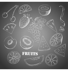Background with fruit-05 vector image vector image