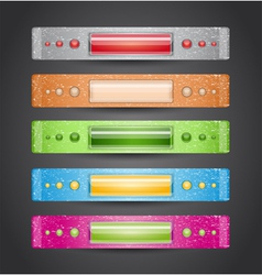 Colorful vintage banners vector image