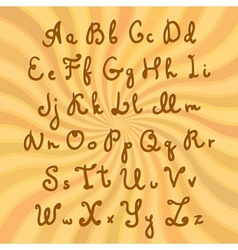 Doodle sweet chocolate font vector image