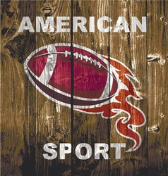 fireball woodboard football vector image vector image