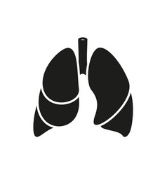 Lungs - icon on white background vector