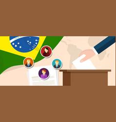 brazil democracy political process selecting vector image