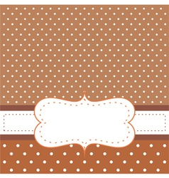 Brown card or invitation vector image vector image