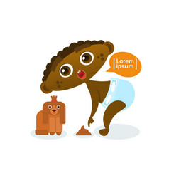 cute african american baby boy playing with dog vector image vector image