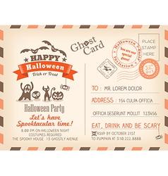 Happy Halloween Vintage Postcard background vector image vector image
