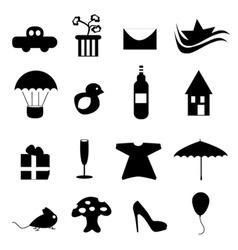 icon design set vector image vector image